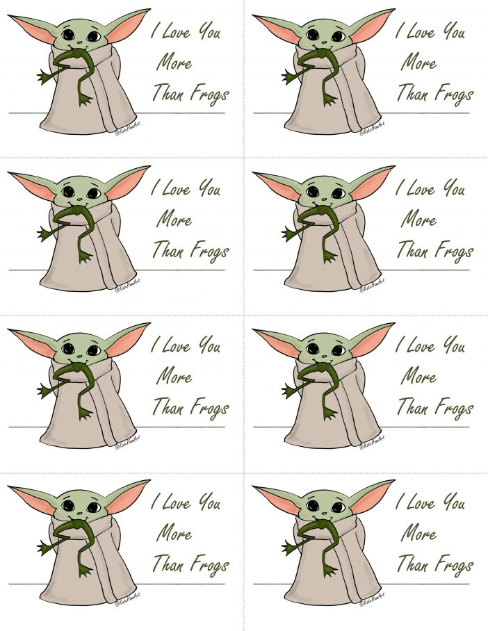 Baby Yoda love you more than frogs