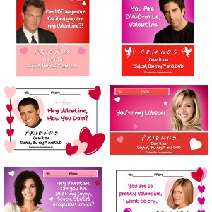 FRIENDS Printable Valentine's Day Cards!