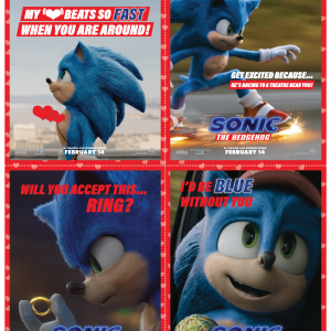 Sonic the Hedgehog FREE Valentine's Day Cards