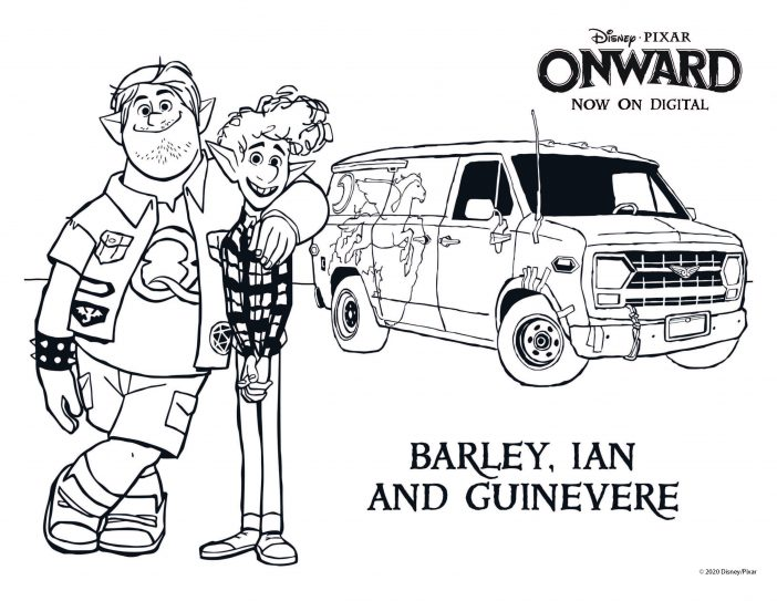 Onward free coloring sheets with characters
