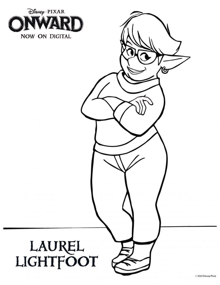 Laurel Onward coloring sheet