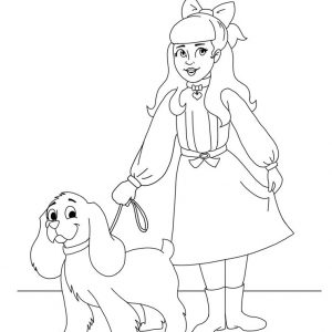 Samantha American Girl Doll Printable Coloring Sheet