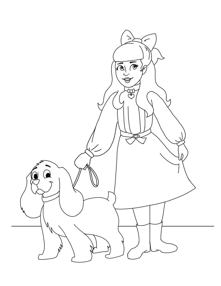 - American Girl Doll Samantha Printable Coloring Sheet