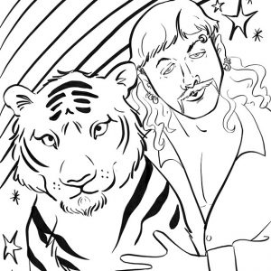 Tiger King Coloring Pages - Free printables
