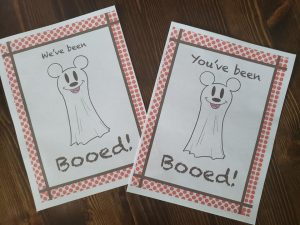 mickey ghoast boo card