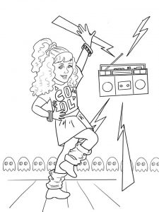 Courtney American Girl Doll coloring pages free printable