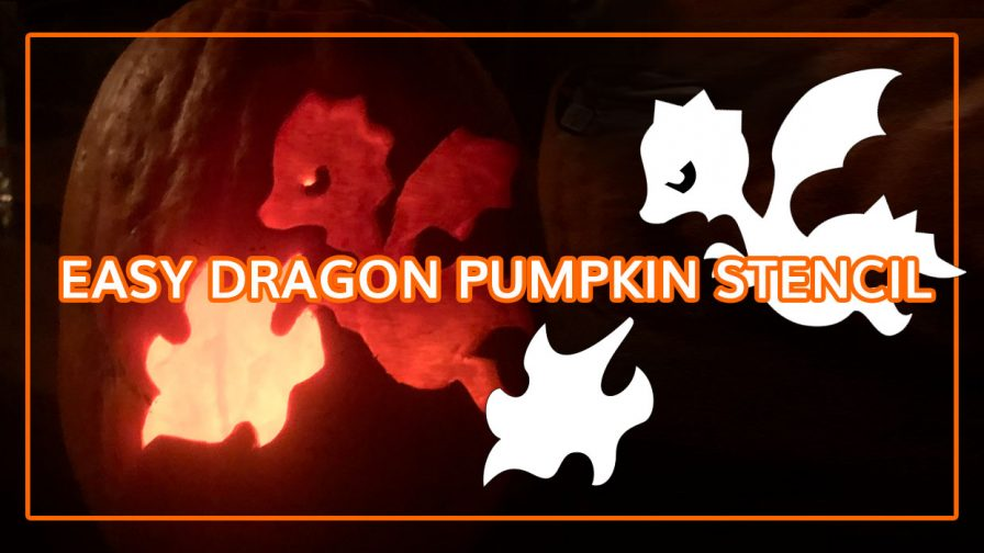 Cute and simple Dragon Halloween printable