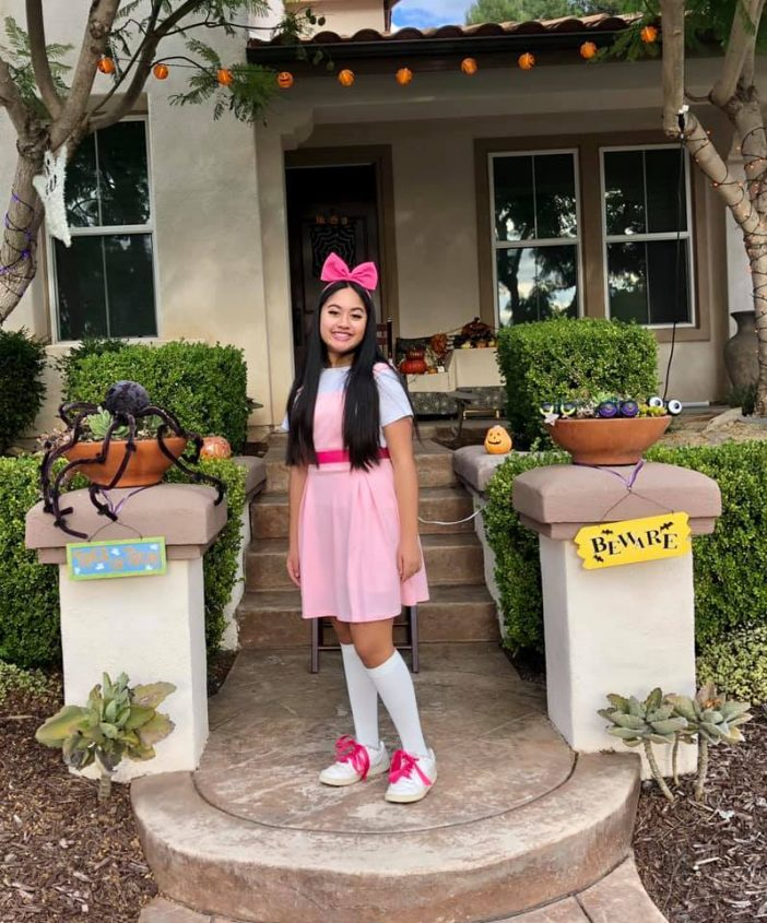 Isabella Phineas and Ferb Costume DIY No Sew