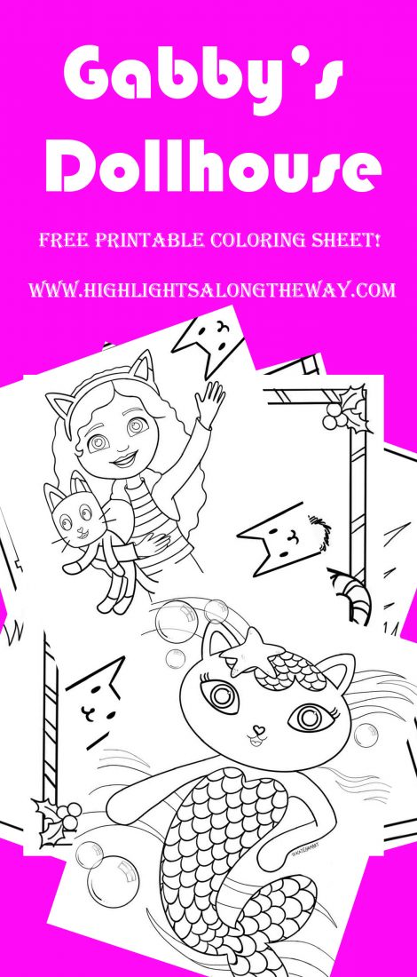 gabby's dollhouse printable coloring pages free