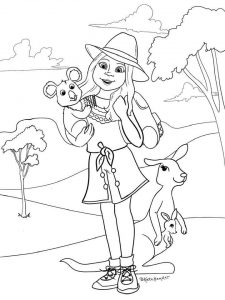 kira bailey coloring page american girl doll of the year 2021