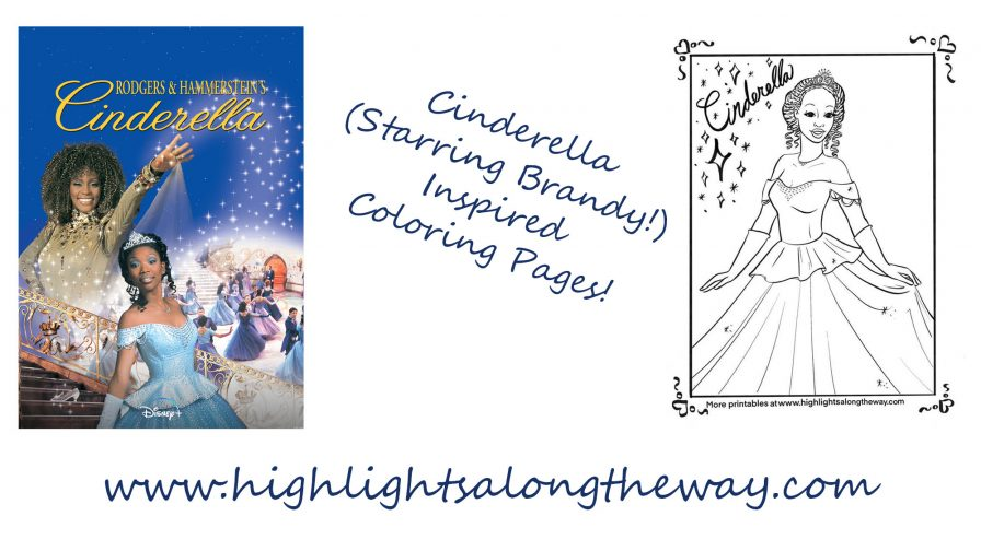 brandy first black cinderella coloring pages