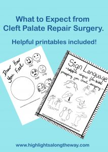Cleft Palate Repair Surgery printables