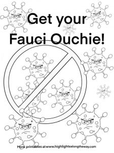 fauci ouchie free printable coloring pages