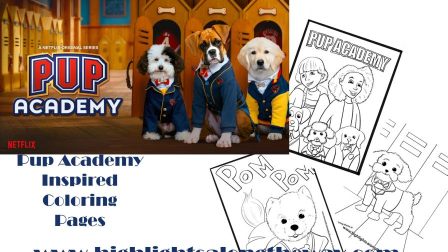 pup academy netflix coloring pages book