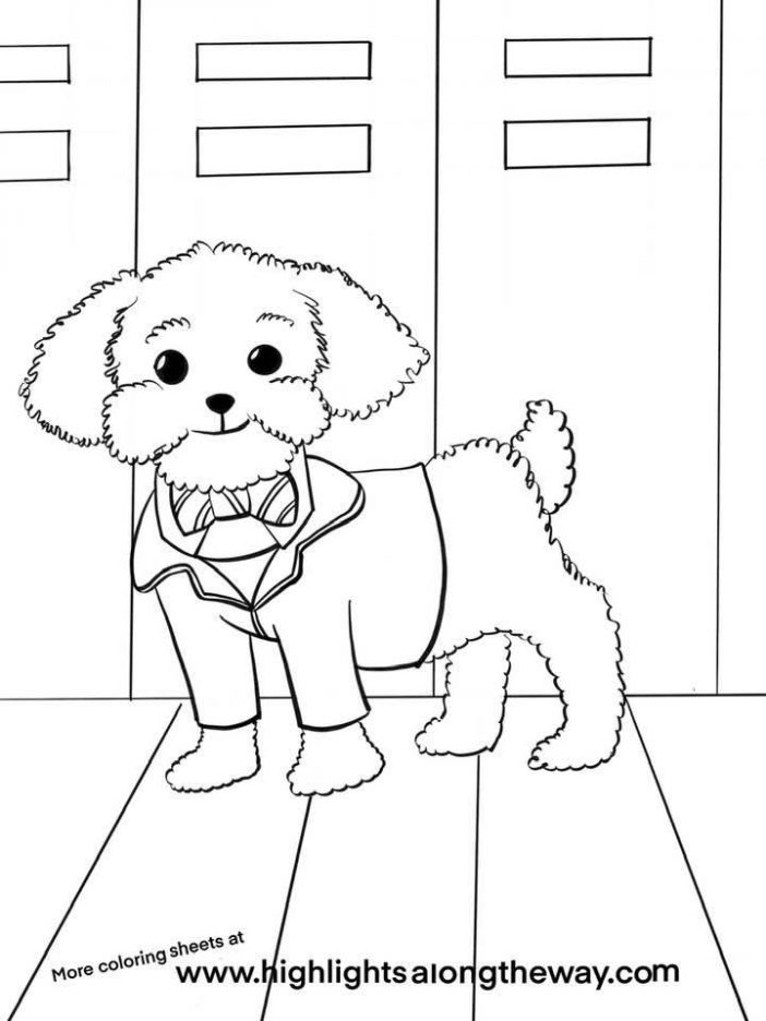 wiz pup academy coloring page downloadable and printable