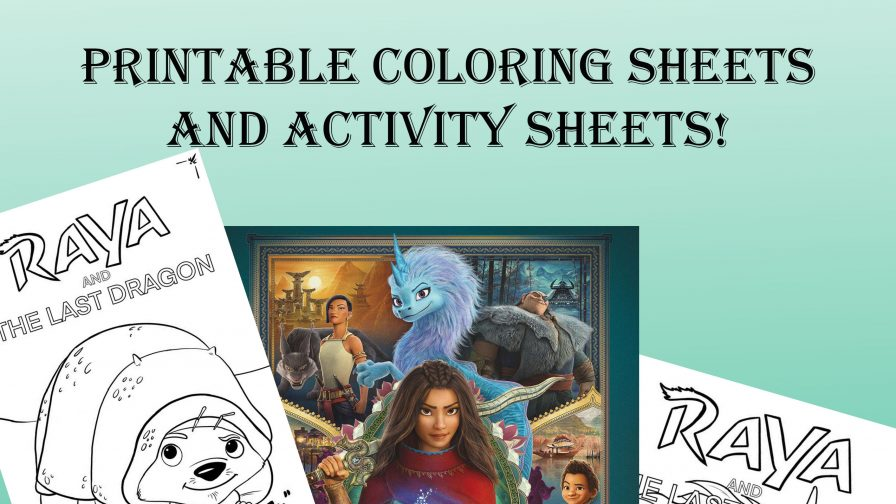 raya and the last dragon coloring pages and activity sheets