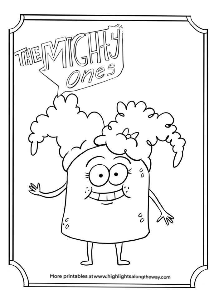 Rocksy the Mighty Ones click and print coloring sheet