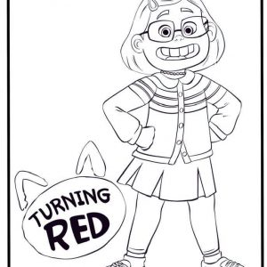 Turning Red Coloring Sheets