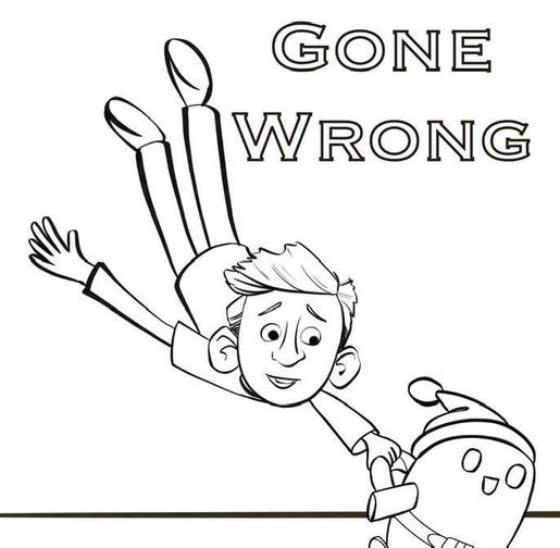 rons gone wrong free printable coloring sheets