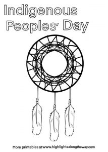 indigenous peoples day coloring page free printab;e