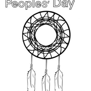 Indigenous Peoples' Day - Coloring Sheet - FREE Printable